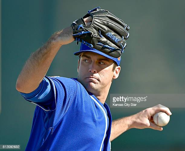 Kansas City Royals pitcher Brian Flynn during a spring training workout on Wednesday Feb 24 in Surprise Ariz