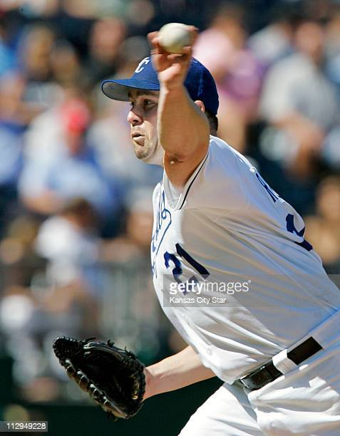 Kansas City Royals pitcher Mark Redman throws in the seventh inning against the Chicago White Sox The Royals defeated the White Sox 73 at Kauffman...