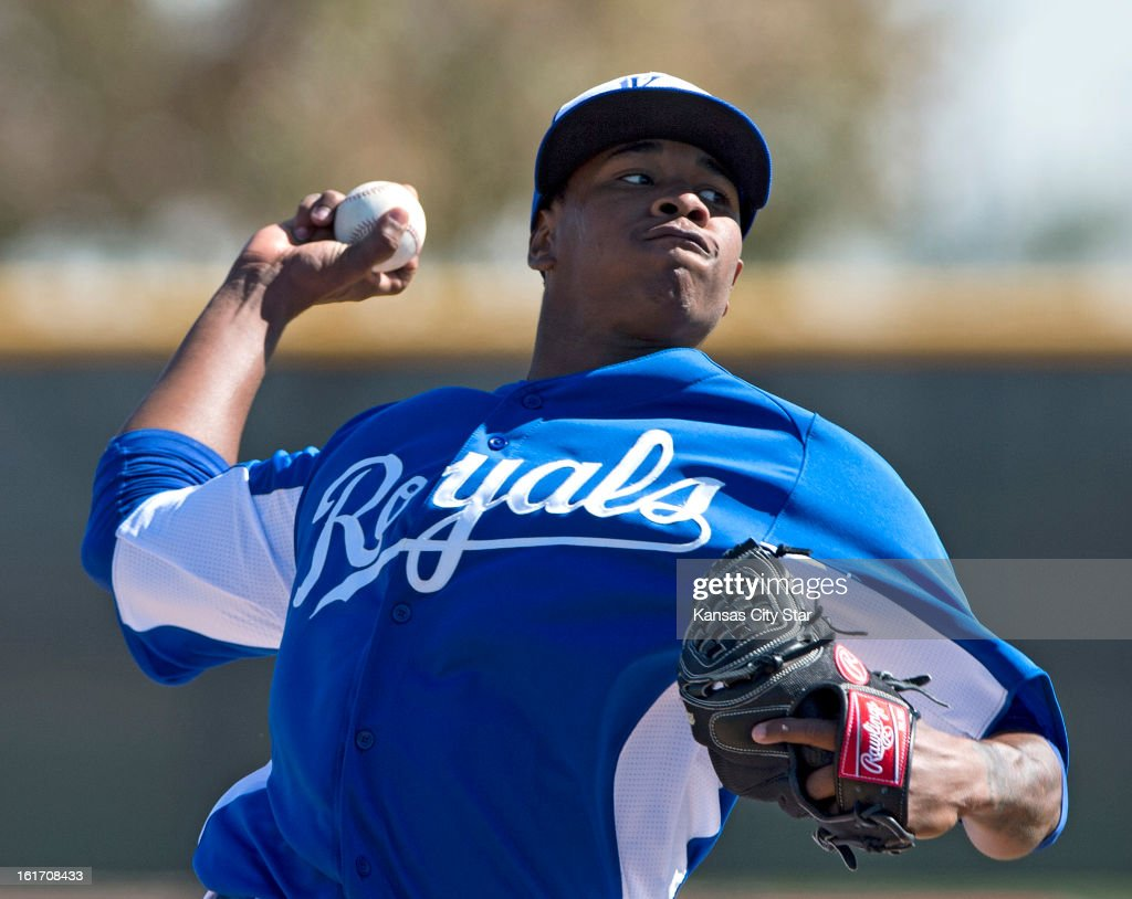 Kansas City Royals pitcher Yordano Ventura throws during spring training on Thursday, February 14, 2013, in Surprise, Arizona.