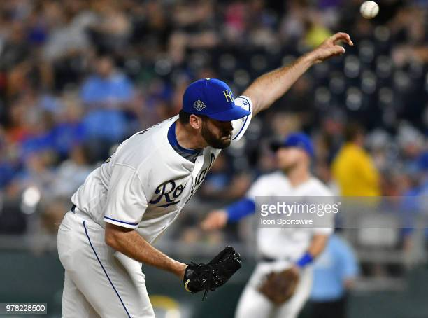 Kansas City Royals relief pitcher Brian Flynn pitches during a Major League Baseball game between the Houston Astros and the Kansas City Royals on...