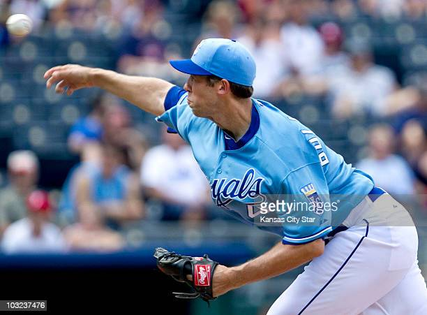 Kansas City Royals relief pitcher Bryan Bullington throws a pitch in the eighth inning against the Minnesota Twins Wednesday July 28 at Kauffman...
