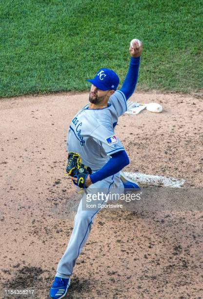 Kansas City Royals relief pitcher Jorge Lopez on the mound during a MLB game between the Washington Nationals and the Kansas City Royals on July 6 at...