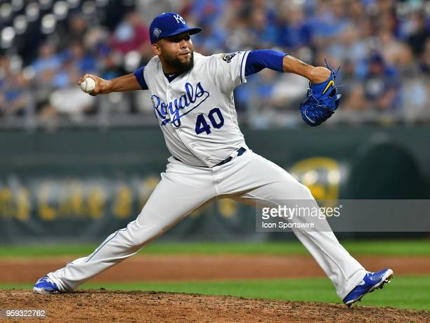 Kansas City Royals relief pitcher Kelvin Herrera pitches during a Major League Baseball game between the Tampa Bay Rays and the Kansas City Royals on...