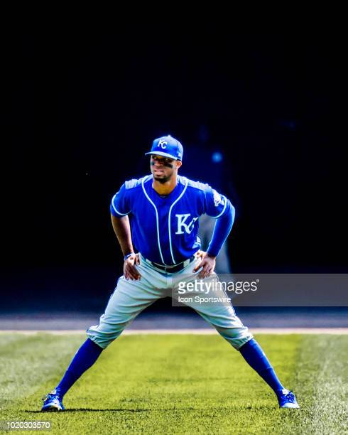 Kansas City Royals right fielder Rosell Herrera warms up prior to a game between the Kansas City Royals and the Chicago White Sox on August 19 at...