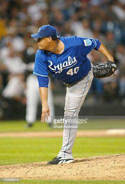 Kansas City Royals' Starter Runelvys Hernandez pitches during their game against the Chicago White Sox August 15 2006 at US Cellular Field in Chicago...