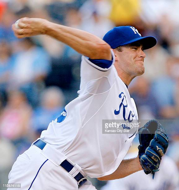 Kansas City Royals starting pitcher Brian Bannister throws against the Tampa Bay Devil Rays at Kauffman Stadium in Kansas City Missouri Friday July...