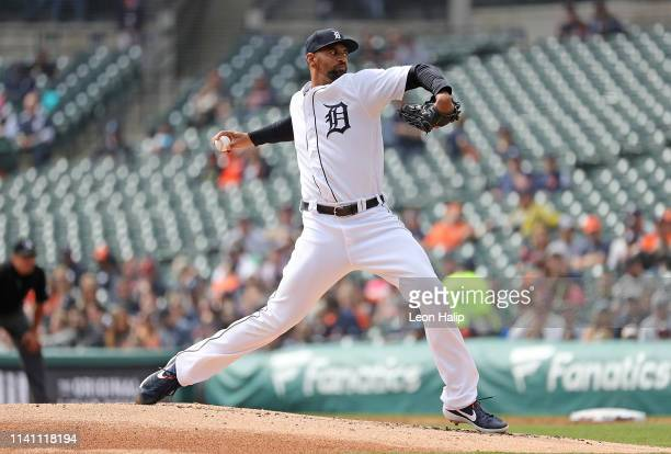 Kansas City Royals v Detroit Tigers at Comerica Park on April 7 2019 in Detroit Michigan