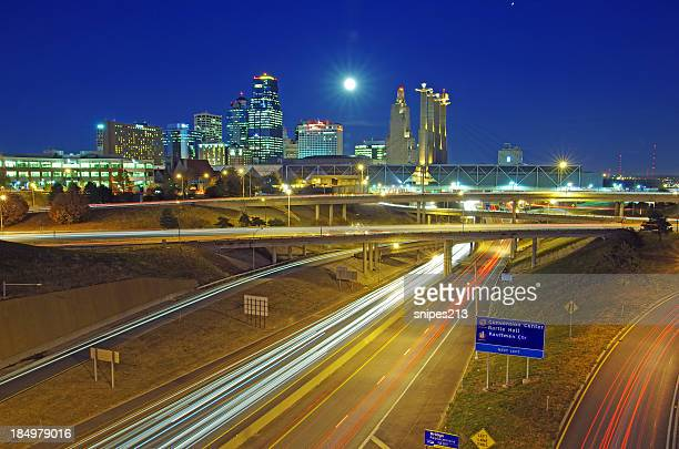 kansas city, summit street view - interstate 70 stock photos and pictures
