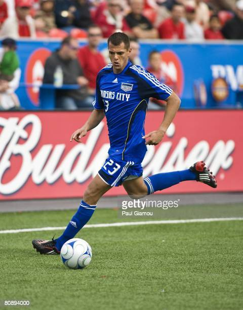 Kansas City Wizards forward Ivan Trujillo dribbles the ball during their game against Toronto FC on April 26 2008 at BMO Field in Toronto Ontario