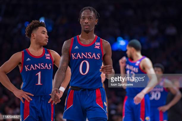 Kansas Jayhawks guard Marcus Garrett is pictured during the State Farm Champions Classic game between the Kansas Jayhawks and Duke Blue Devils on...