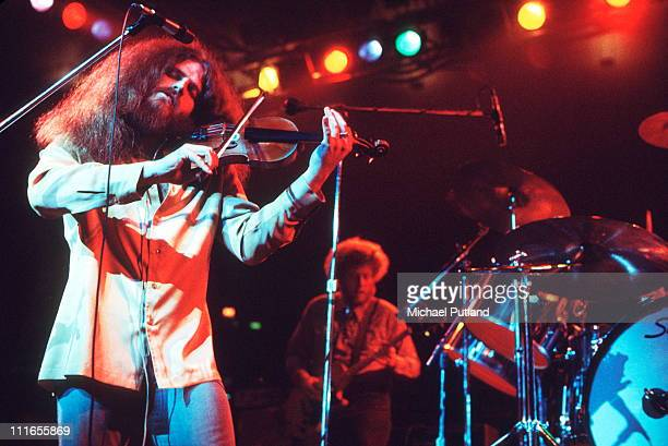 Kansas perform on stage in New York December 1977 LR Robby SteinhardtRich Williams