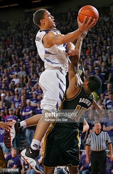 Kansas State freshman Michael Beasley soared over Missouri Tigers forward Marshall Brown at Bramlege Coliseum in Manhattan Kansas on Saturday...