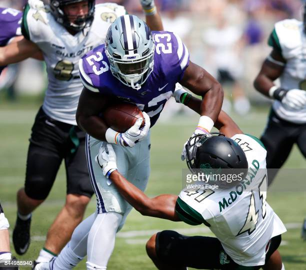 Kansas State running back Mike McCoy churns his way up field in the third quarter against Charlotte at Snyder Family Stadium in Manhattan Kan on...