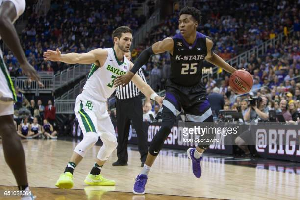 Kansas State Wildcats forward Wesley Iwundu during the Big 12 conference mens basketball tournament game between the Baylor Bears and the Kansas...