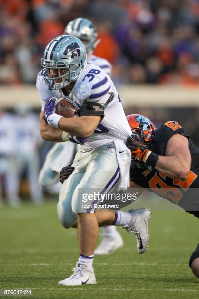 Kansas State Wildcats fullback Winston Dimel during the Big 12 college football game between the Kansas State Wildcats and the Oklahoma State Cowboys...