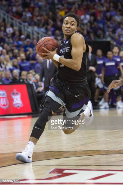Kansas State Wildcats guard Barry Brown during the Big 12 Tournament semifinal game between the Kansas State Wildcats and the West Virginia...