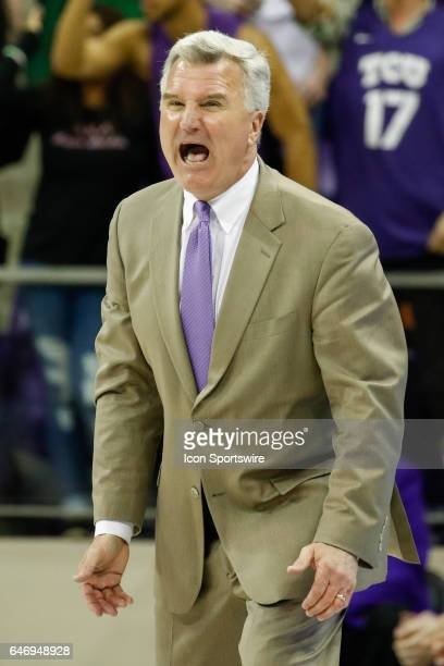 Kansas State Wildcats head coach Bruce Weber during the basketball game between Kansas State Wildcats and TCU Horned Frogs on March 1 2017 at Ed Rae...