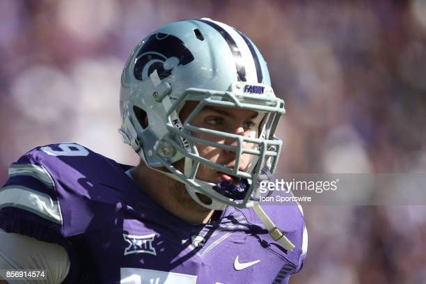 Kansas State Wildcats offensive lineman Adam Holtorf in the first half of a Big 12 game between the Baylor Bears and Kansas State Wildcats on...