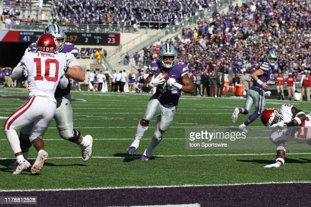 Kansas State Wildcats running back James Gilbert scores on a 2-yard touchdown run with 12:54 to go in the fourth quarter of a Big 12 football game...