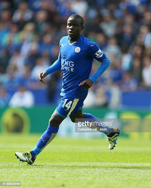 Kante of Leicester City during the Barclays Premier League match between Leicester City and Southampton at The King Power Stadium on April 3 2016 in...