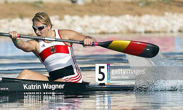 Kanu Olympische Spiele Athen 2004 Athen Kanu Rennsport / Kajak K1 500m / Frauen Halbfinale Katrin WAGNER / GER 260804