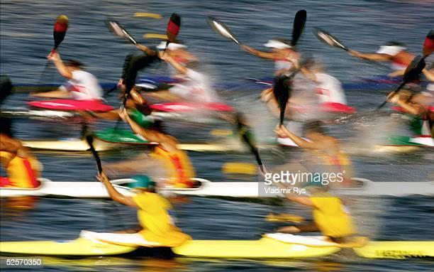 Kanu Olympische Spiele Athen 2004 Athen Kanu Rennsport / Kajak K4 500m / Frauen Spezial 230804