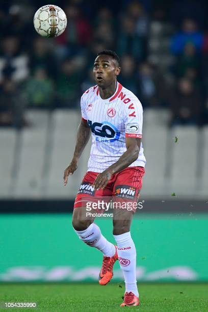 Kanu Rubenilson Dos Santos midfielder of Kortrijk in action during the Jupiler Pro League match between Cercle Brugge and KV Kortrijk at the Jan...