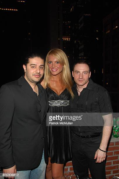 Kanvar Singh, Jelena Mandic and guest attend GONZO post screening party at Night Hotel N.Y.C. On June 25, 2008 in New York City.