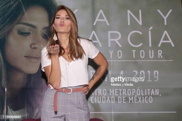 Kany García poses for photos during a press conference at Teatro Metropolitan on April 2 2019 in Mexico City Mexico