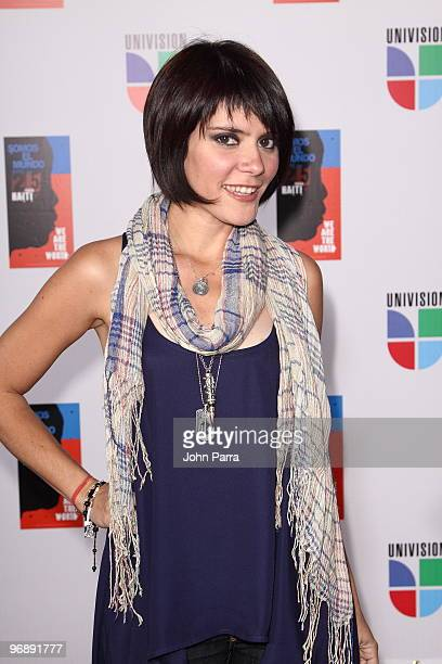 Kany Garcia arrives at recording of Somos El Mundo We Are The World by Latin recording artits at American Airlines Arena on February 19 2010 in Miami...