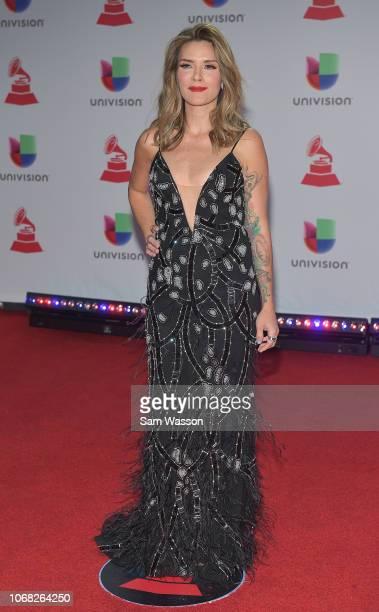 Kany Garcia attends the 19th annual Latin GRAMMY Awards at MGM Grand Garden Arena on November 15 2018 in Las Vegas Nevada