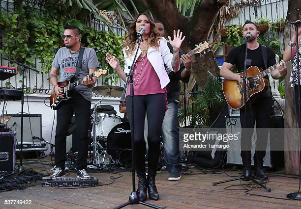 Kany Garcia is seen performing during her private concert at El Patio on June 2 2016 in Miami Florida