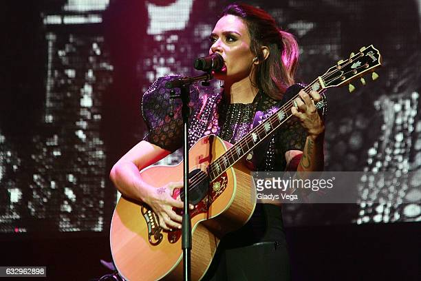 Kany Garcia performs as part of her concert 'Limonada' at Coliseo Jose Miguel Agrelot on January 28 2017 in San Juan Puerto Rico