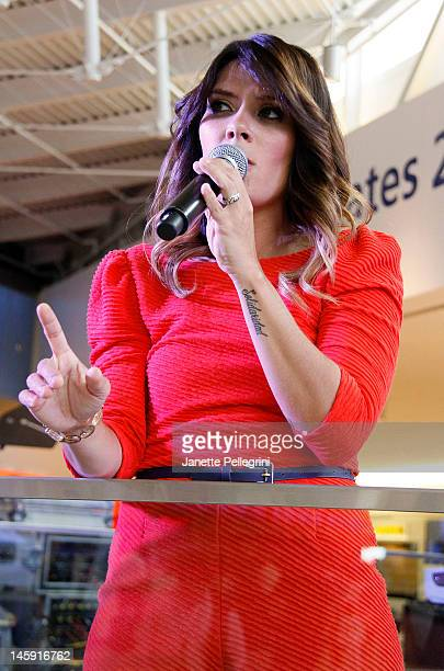 Kany Garcia performs at Terminal 5 at Jet Blue JFK on June 7 2012 in New York City