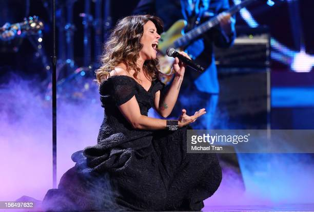 Kany Garcia performs onstage at the XIII Annual Latin Grammy Awards held at Mandalay Bay Events Center on November 15 2012 in Las Vegas Nevada