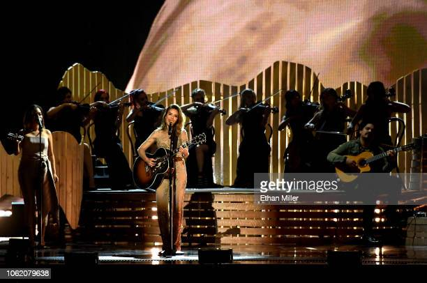 Kany Garcia performs onstage during the 19th annual Latin GRAMMY Awards at MGM Grand Garden Arena on November 15 2018 in Las Vegas Nevada