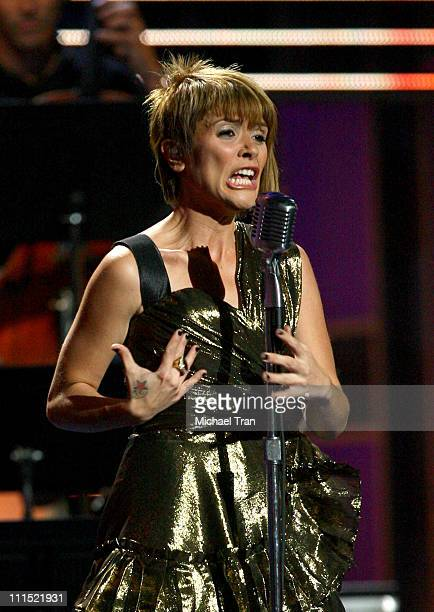 Kany Garcia performs onstage during the 9th Annual Latin Grammy Awards held at Toyota Center on November 13 2008 in Houston Texas