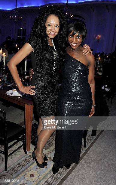Kanya King and Brenda Emmanus attend a Dinner at the British Fashion Awards 2011 at The Savoy Hotel on November 28, 2011 in London, England.
