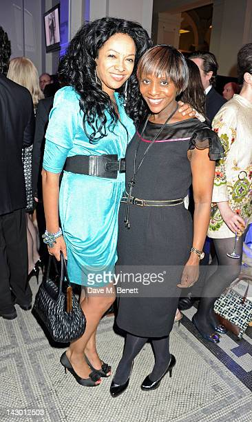 Kanya King and Brenda Emmanus attend Jonathan Shalit's 50th birthday party at The V&A on April 17, 2012 in London, England.