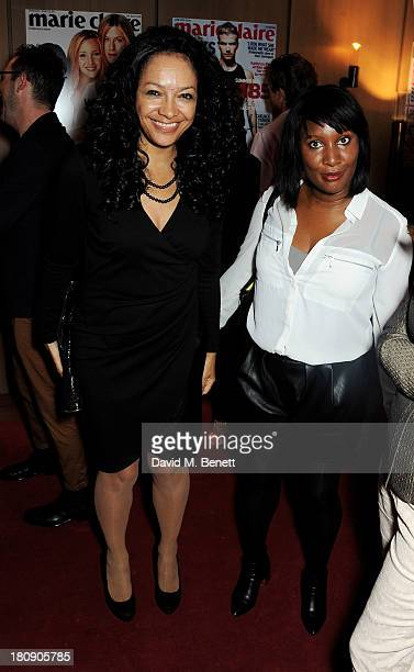 Kanya King and Brenda Emmanus attend the Marie Claire 25th birthday celebration featuring Icons of Our Time in association with The Outnet at the...
