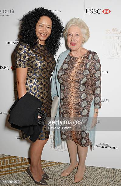 Kanya King and Caroline Neville attend Debrett's 500 party hosted at The Club at Cafe Royal on January 26 2015 in London England The Debrett's 500...