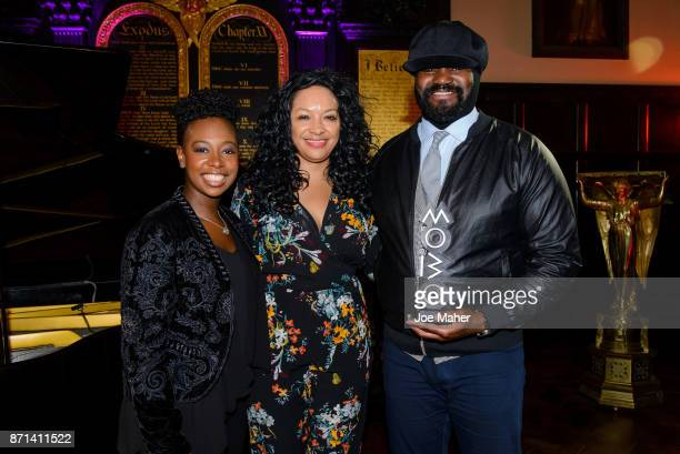 Kanya King and Gregory Porter during the MOBO Outstanding Contribution To Music Award announcement at Gresham Centre on November 7 2017 in London...