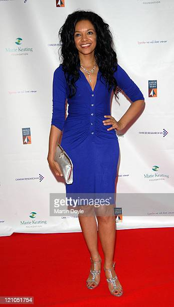 Kanya King attends The Emeralds Ivy Ball hosted by Ronan Keating for Cancer Research UK sponsored by Anglo Irish Bank at The Old Billingsgate Fish...