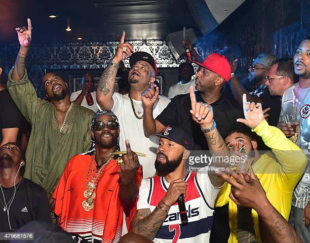 Kanye West 2 Chainz Future Kenny Burns Alex Gidewon and Drake attend at Compound on June 20 2015 in Atlanta Georgia