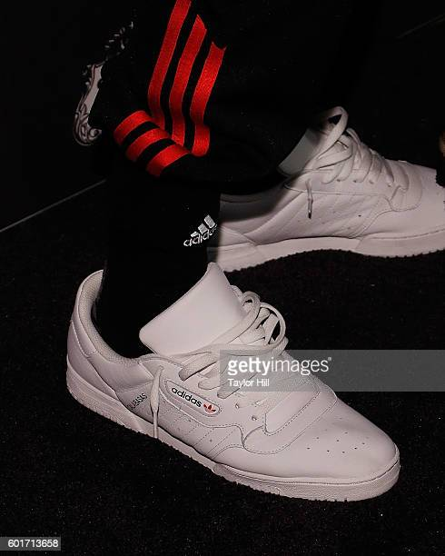 Kanye West Adidas 'Calabasas' shoe detail attends the 2016 Harper ICONS Party at The Plaza Hotel on September 9 2016 in New York City