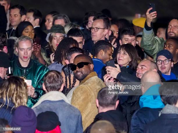 Kanye West after the Yeezy fashion show during Paris Fashion Week Womenswear Fall/Winter 2020/2021 on March 02 2020 in Paris France