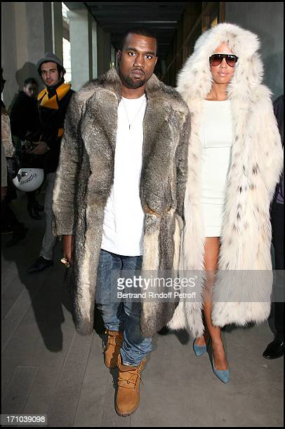 Kanye West Amber Rose at The Louis Vuitton Fashion Show Autumn Winter 20102011 Menswear Collection In Paris