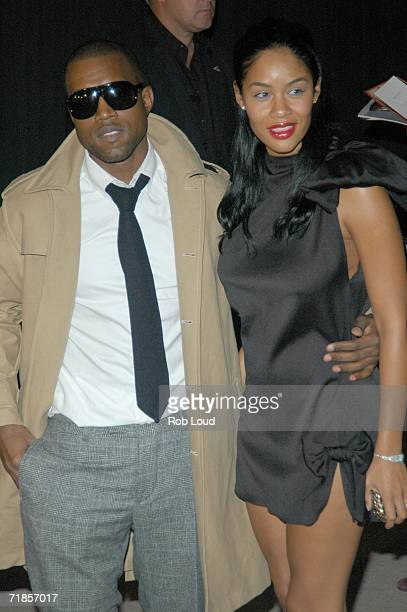 Kanye West and Alexis arrive for the Marc Jacobs Spring 2007 fashion show during Olympus Fashion Week at the NY State Armory September 11 2006 in New...