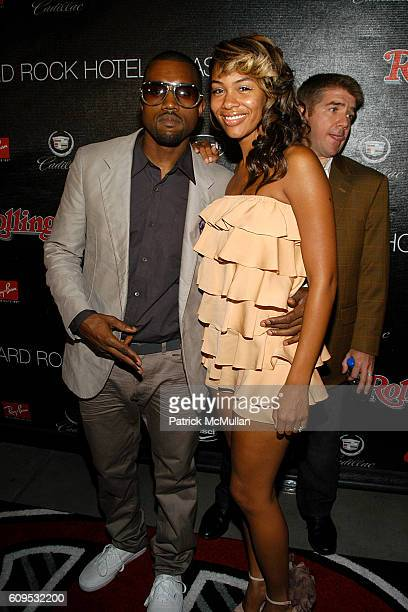 Kanye West and Alexis Phifer attend ROLLING STONE's 40th Anniversary Bash at The Hard Rock Hotel on September 8 2007 in Las Vegas NV