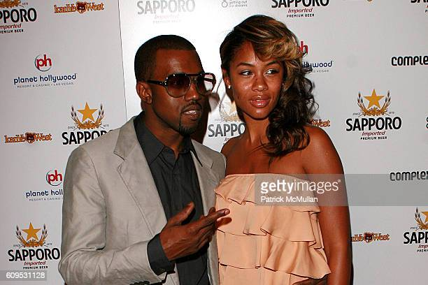 Kanye West and Alexis Phifer attend SAPPORO Presents Kanye West's Album Toast Party at Planet Hollywood Resort Casino on September 8 2007 in Las...
